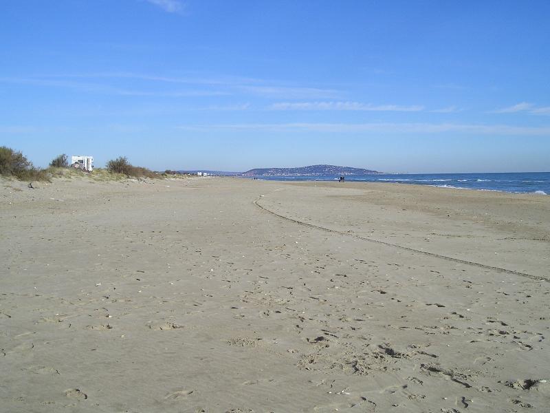 The beach  at Marseillan toward Sete