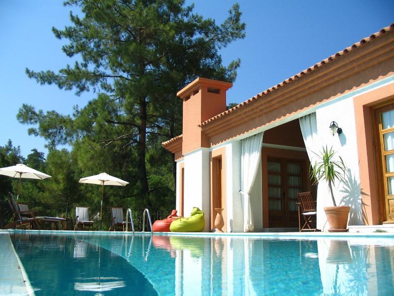 Áreas de piscina e terraço Villa Figueira