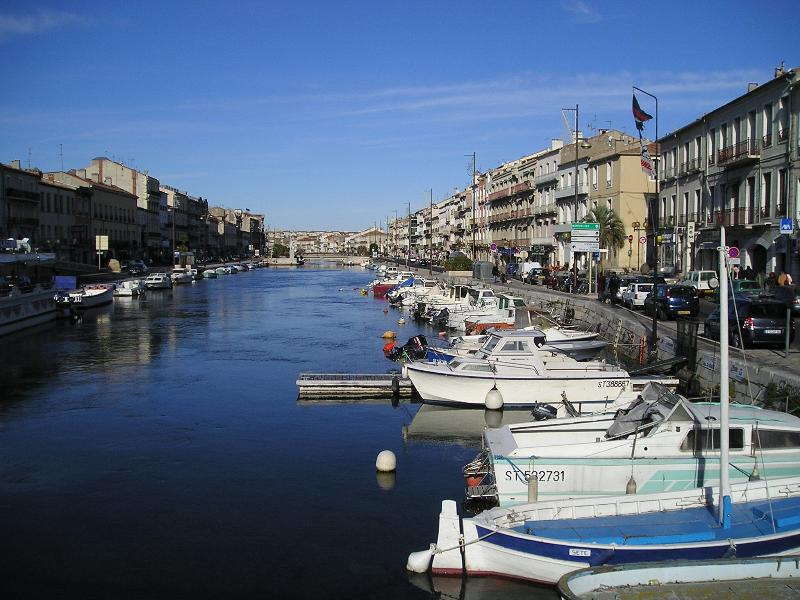 The fishing port at Sete