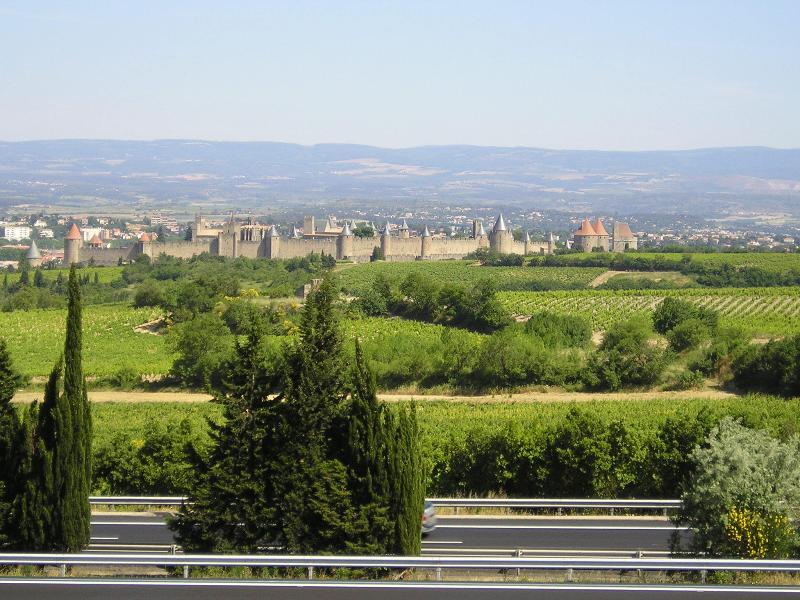 View toward the city of Carcassonne