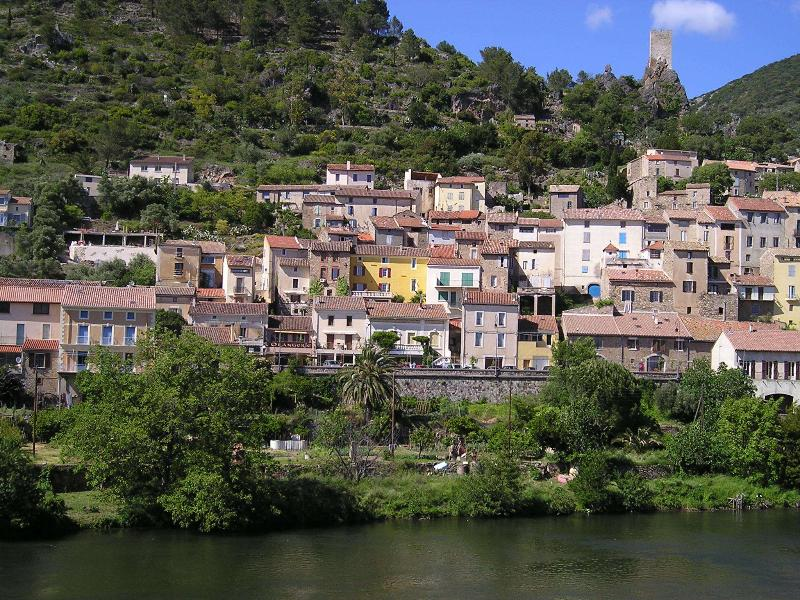 The village of Roquebrun, in the River Orb valley