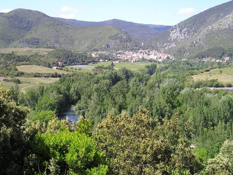 The River Orb valley toward Roquebrun