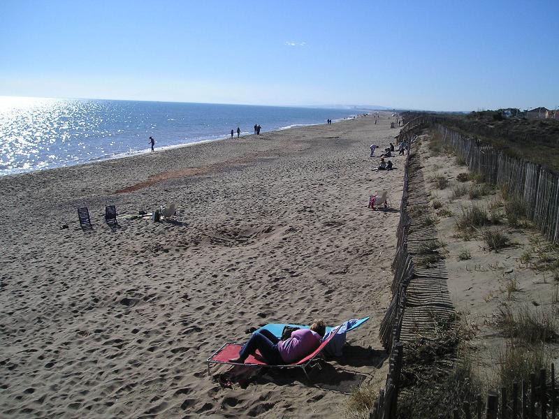 The beach and sand dunes at Marseillan - in November!!