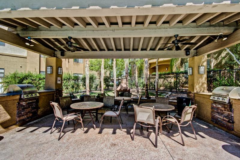 Enjoy the BBQ Grill and lounge seating to have a dinner outside