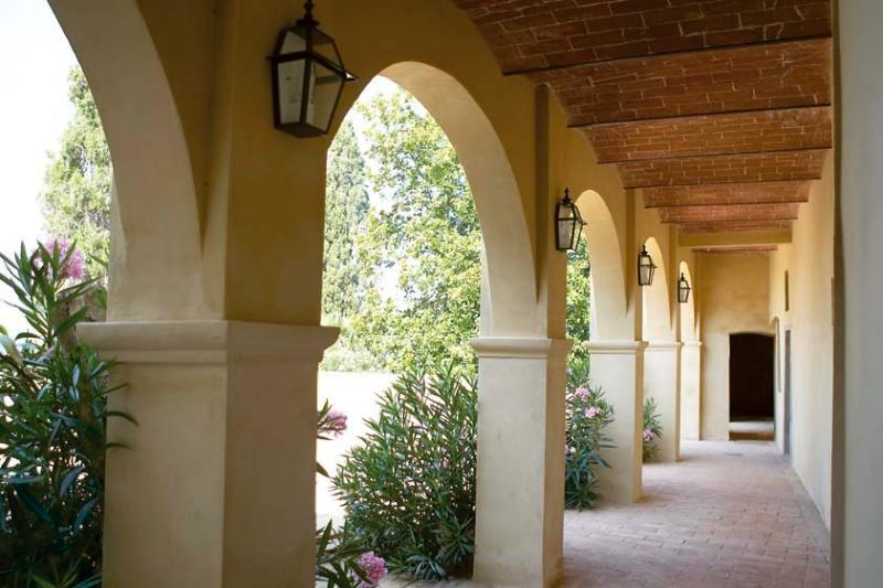 The Portico that borders one side of the Terrace