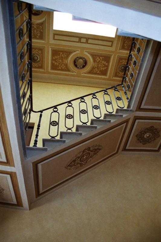 Staircase with Frescoes in the Villa
