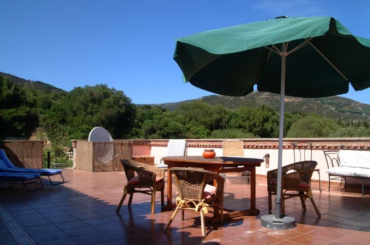 the roof terrace and furniture