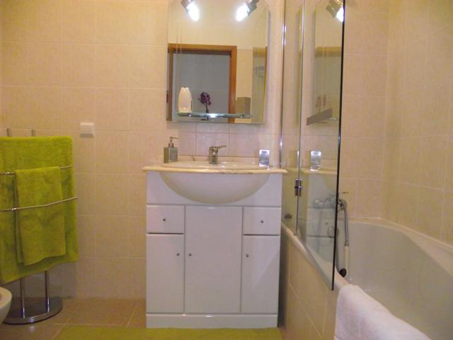 Bathroom complete with bathtub