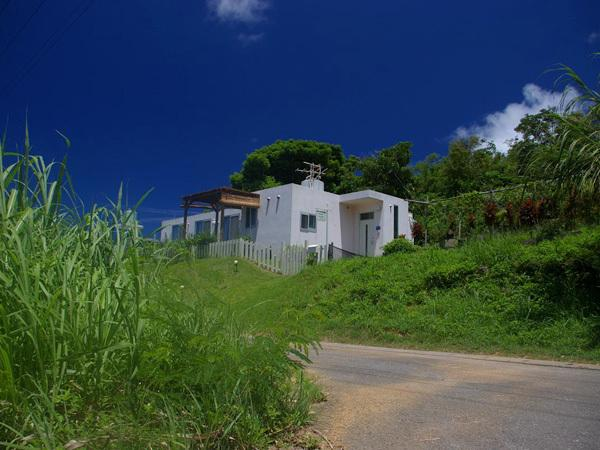 English Garden Cottage is situated on the edge of a traditional Okinawan village