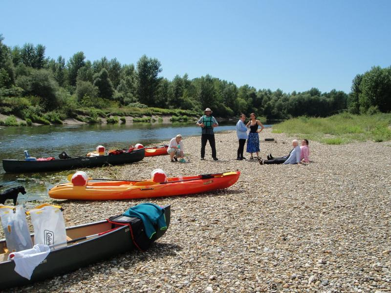 A day's canoeing down the Drava River