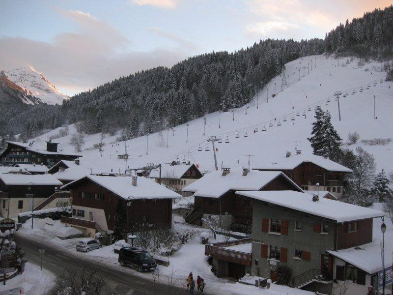 View from the balcony of the Pleney slopes