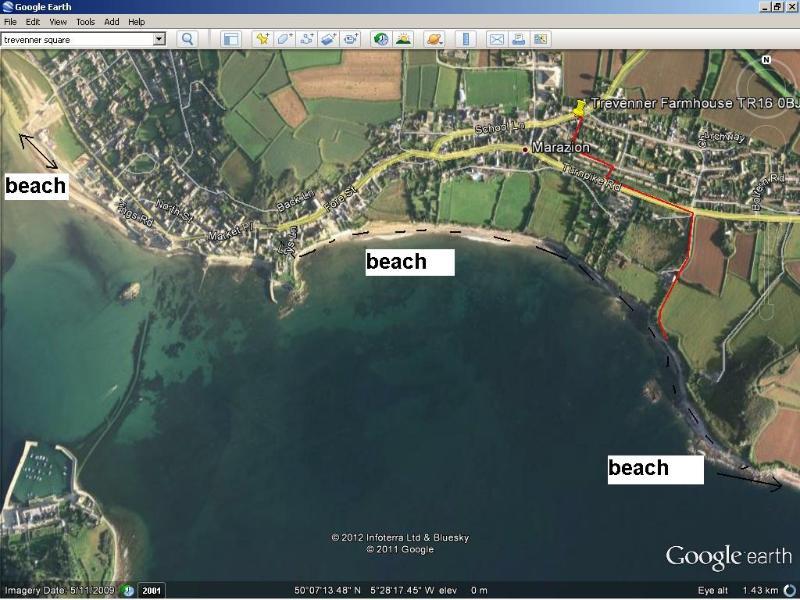 Esta é a rota para a praia mais próxima. Não turístico e pouco conhecido - excelentes vistas sobre o monte na