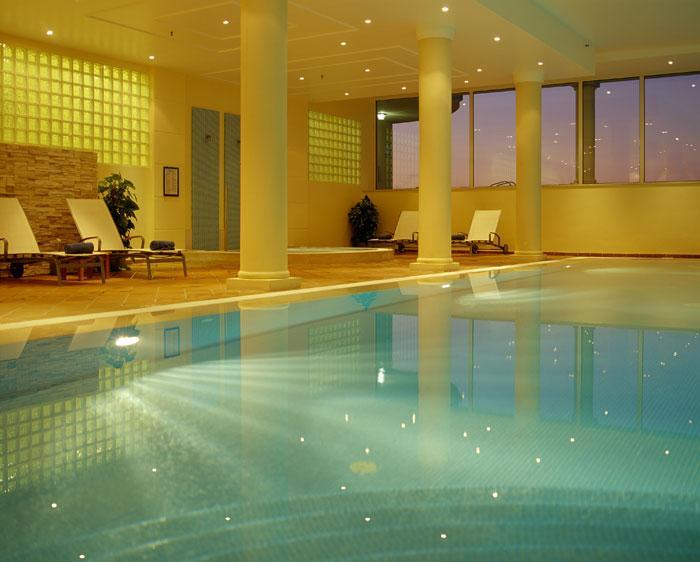 Indoor Pool at Marriott Hotel