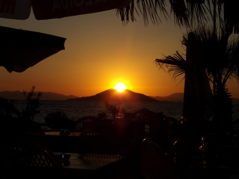 The glorious Calis Beach sunset