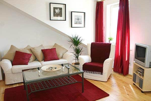 Stylish & sunny living room with unfoldable sofa
