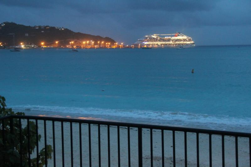 sunset view toward cruise terminal