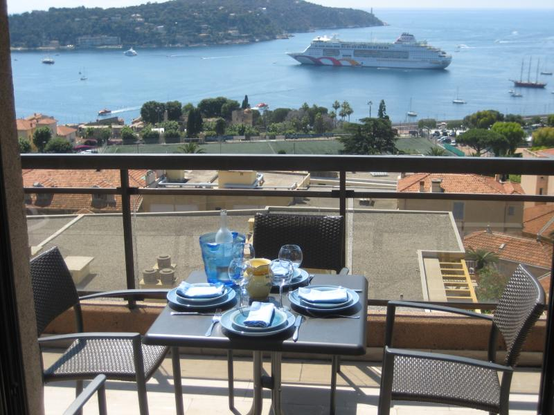 Panoramic view of rade of Villefranche from Terrace