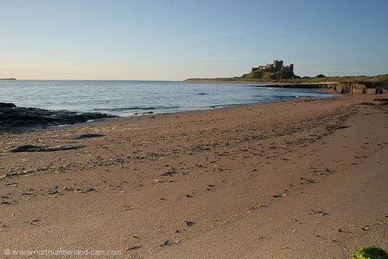 Bamburgh Castle from further up the coast