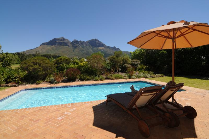 Unspoiled view of the Helderberg mountains