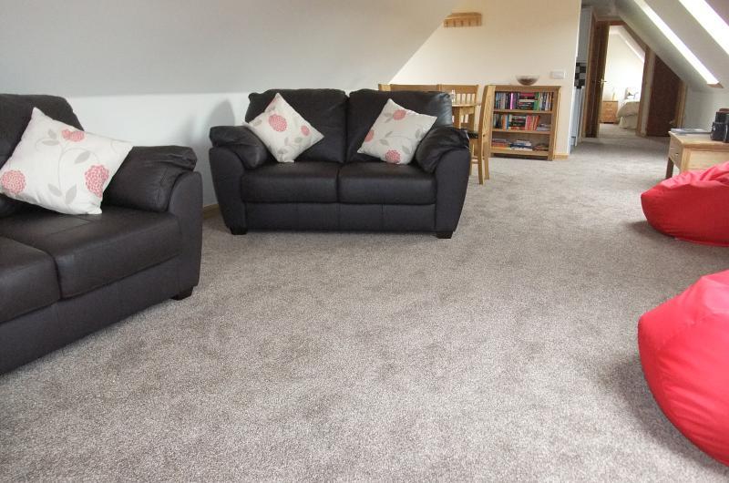 Comfortable, light sitting room