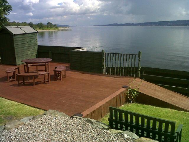 Enjoy eating out on the decking and the breathtaking view