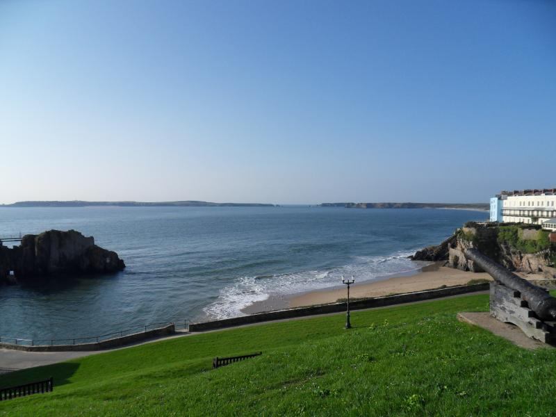 Fab views - St Catherine's Island, Castle Beach Tenby & over to Caldey Island in the distan