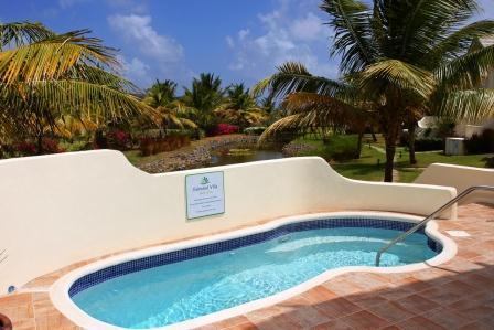 550 sq foot terrace with private pool and beautiful view on the tropical garden