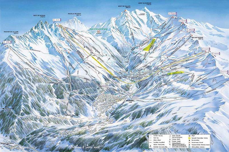 Skikaart uit de drie valleien
