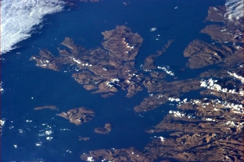 The Isle of Skye as viewed from Outer Space!