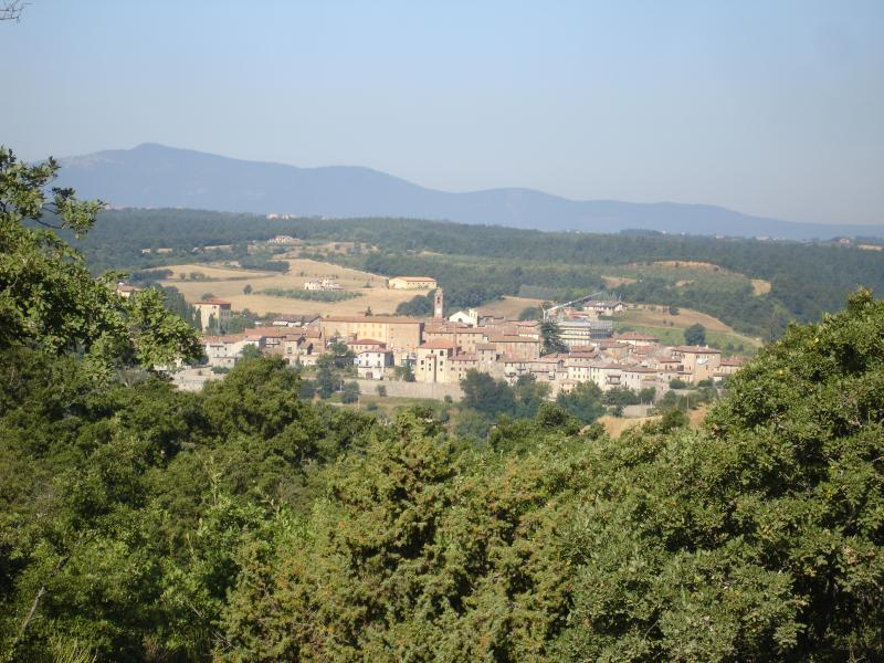 Local town Piegaro from the gardens