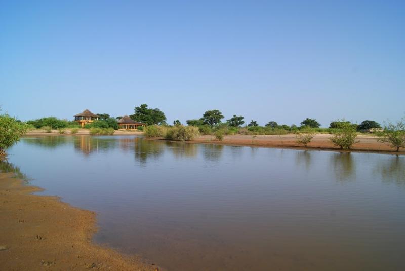 Le domaine en bordure de la lagune