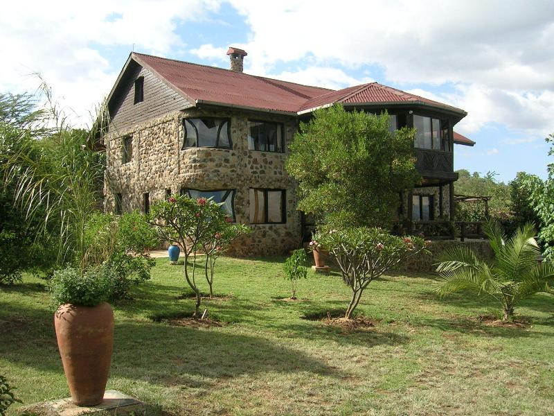 Leleshwa House, with four double bedrooms, two lounges each with fireplaces and wonderful views.