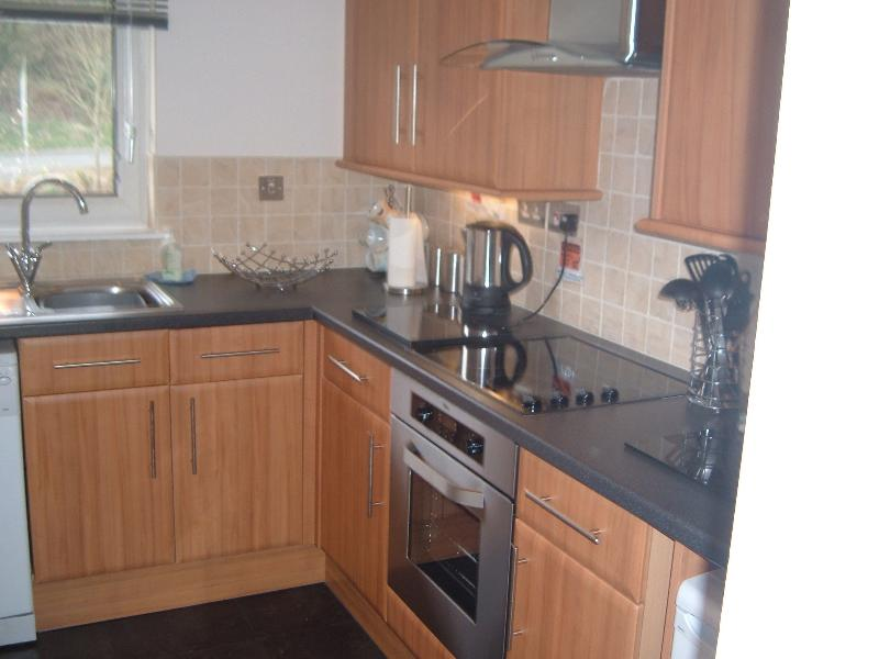 Kitchen- Complete with Washer Dryer, oven, microwave, kettle, toaster and everything you need.