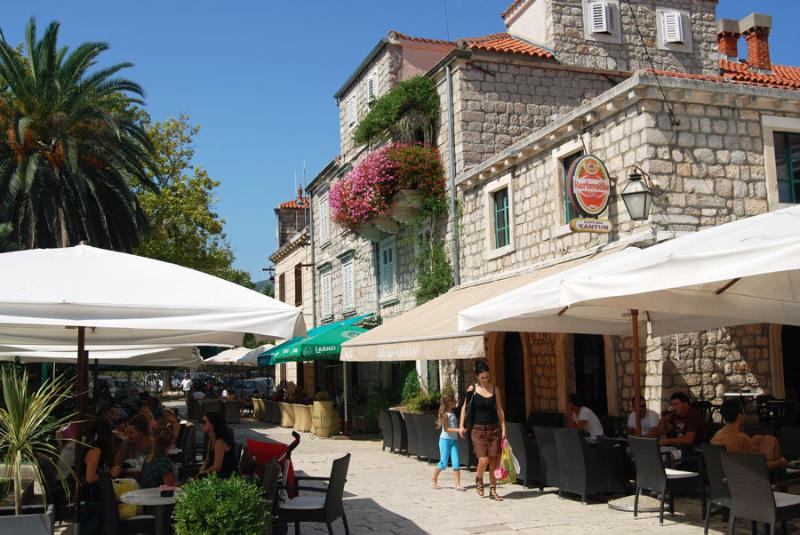 Shops and cafes in nearby Ston