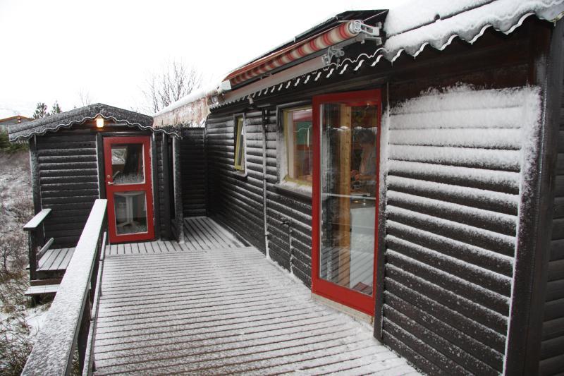À l'arrière en février - Sóltún notre maison de pain d'épice.