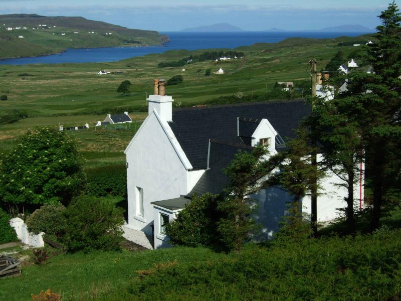 The view looking across Glendale towards the Outer Hebrides