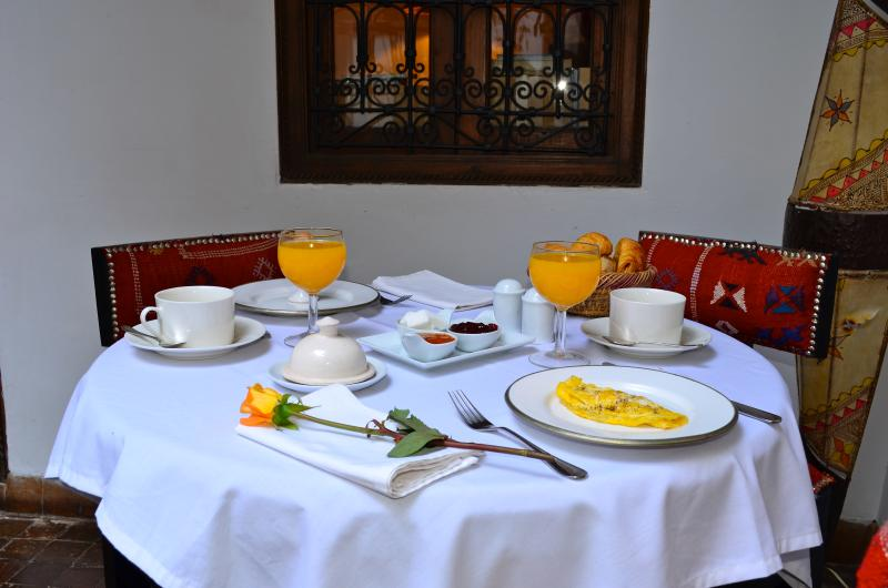 Breakfast at Dar Zaman Marrakech Riad