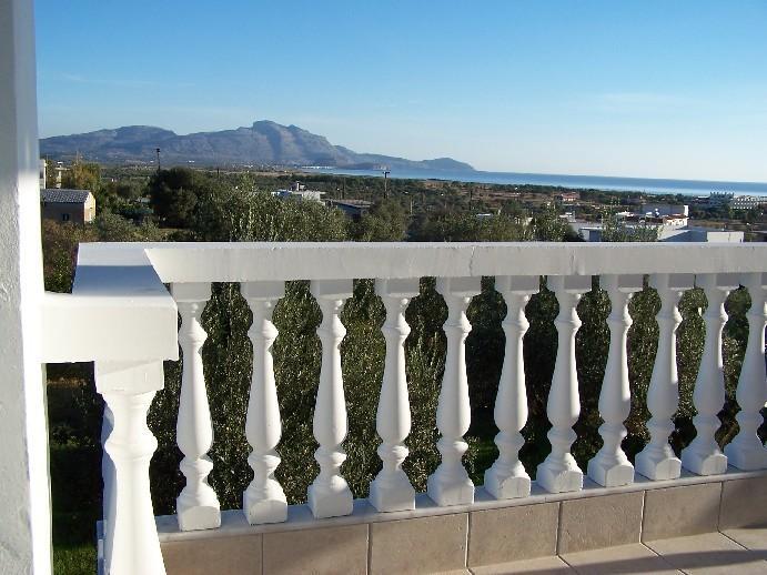 View to Haraki from the SE balcony ......