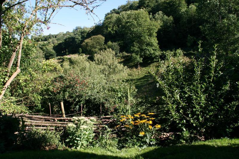 Prachtig uitzicht vanuit de tuin