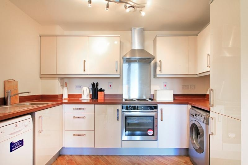 Kitchen Area Typical 1 Bed Apt - Fully Equipped Dishwasher, Washer/Dryer, Fridge/Freezer & Micro