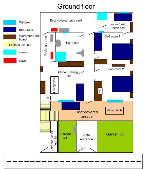 Ground floor plan / planimetria piano terra