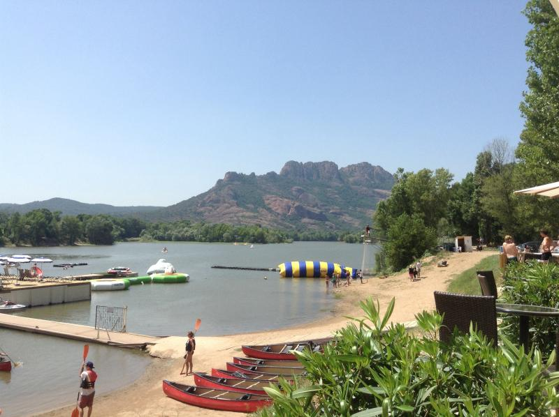 Roquebrune lake area with restaurant and watersports galore and excellent restaurant