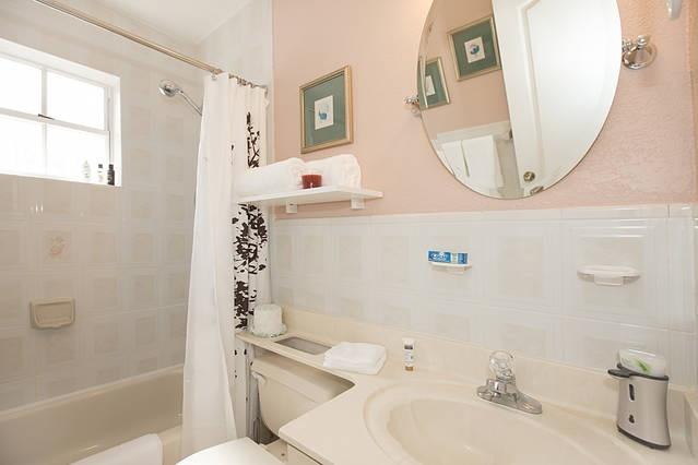 Comfortable and spacious bathroom.