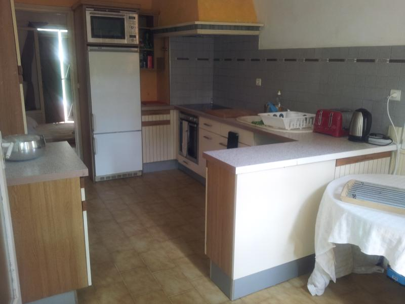 Large kitchen: Neff oven, ceramic hob, built-in microwave oven and dishwasher
