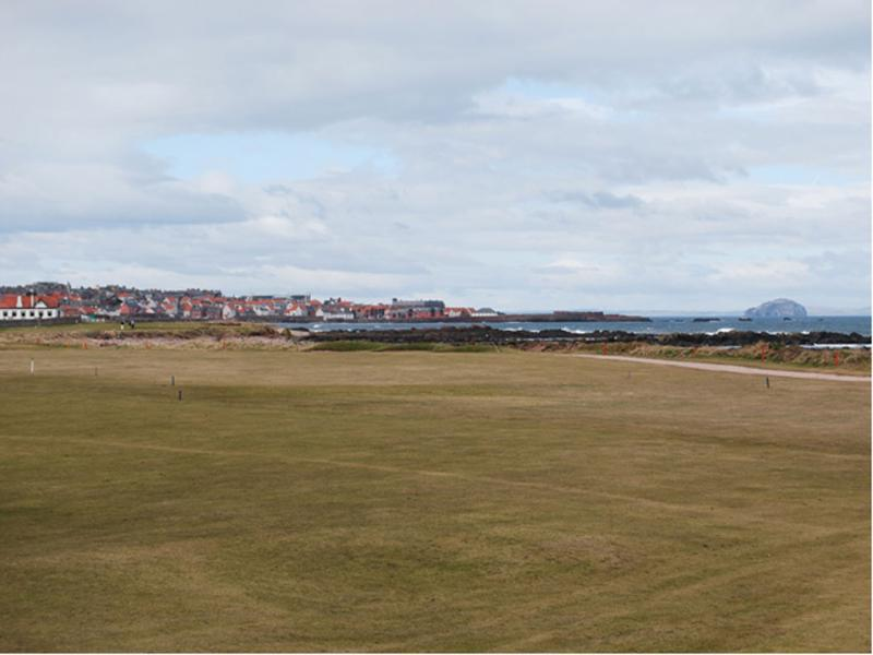 The view over the adjoining golf course