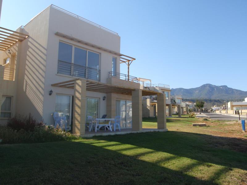 The apartment, overlooking the sea and mountains