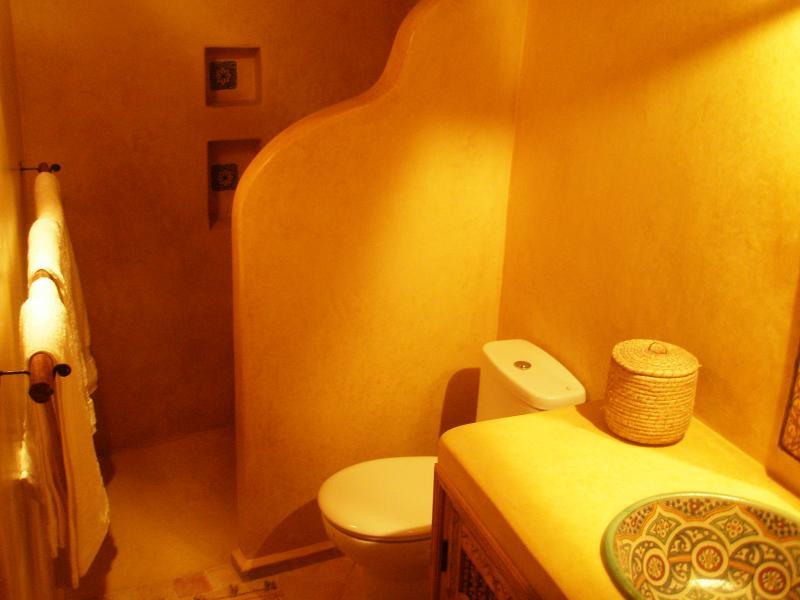 Gold room bathroom
