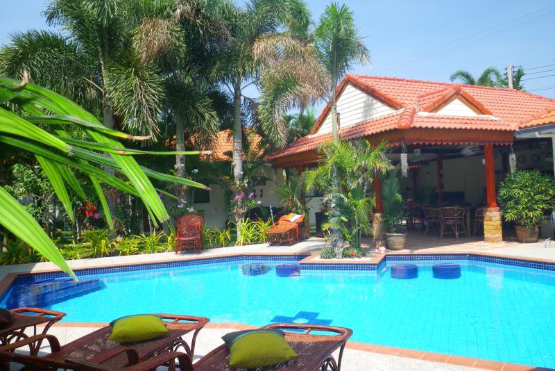 Pool, Gazebo and Bar/ Dinning Area