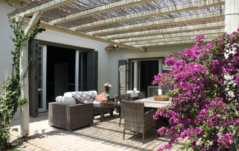 The garden terrace.