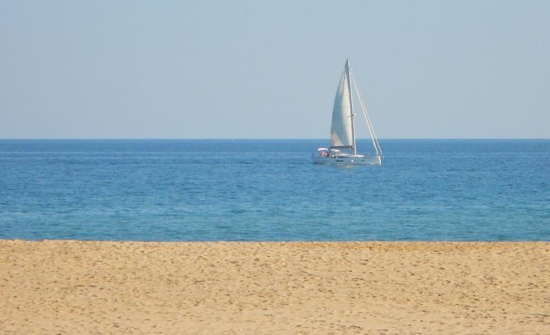 Playa de Meia Praia en febrero